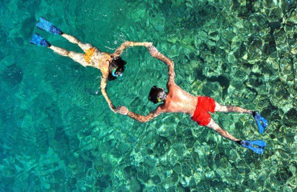 Couple Norfolk Island Snorkelling