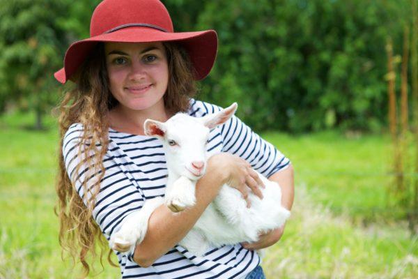 Holding Goat