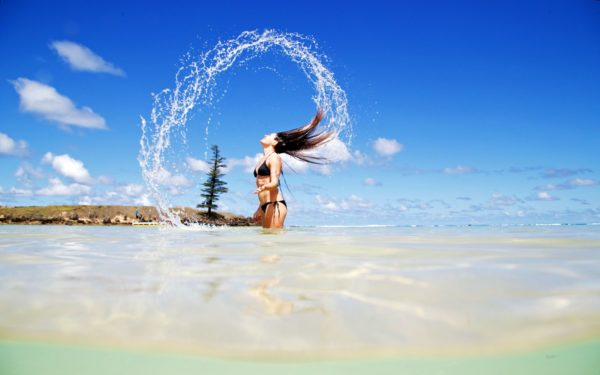 Water Shot With Hair Emily Bay (2)