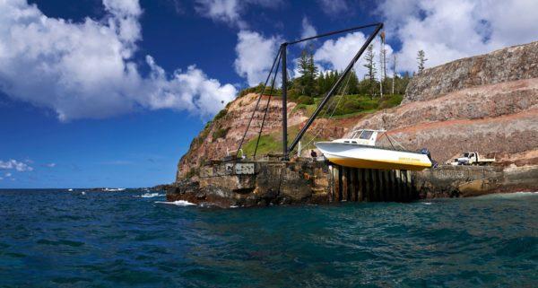Boat On Crane